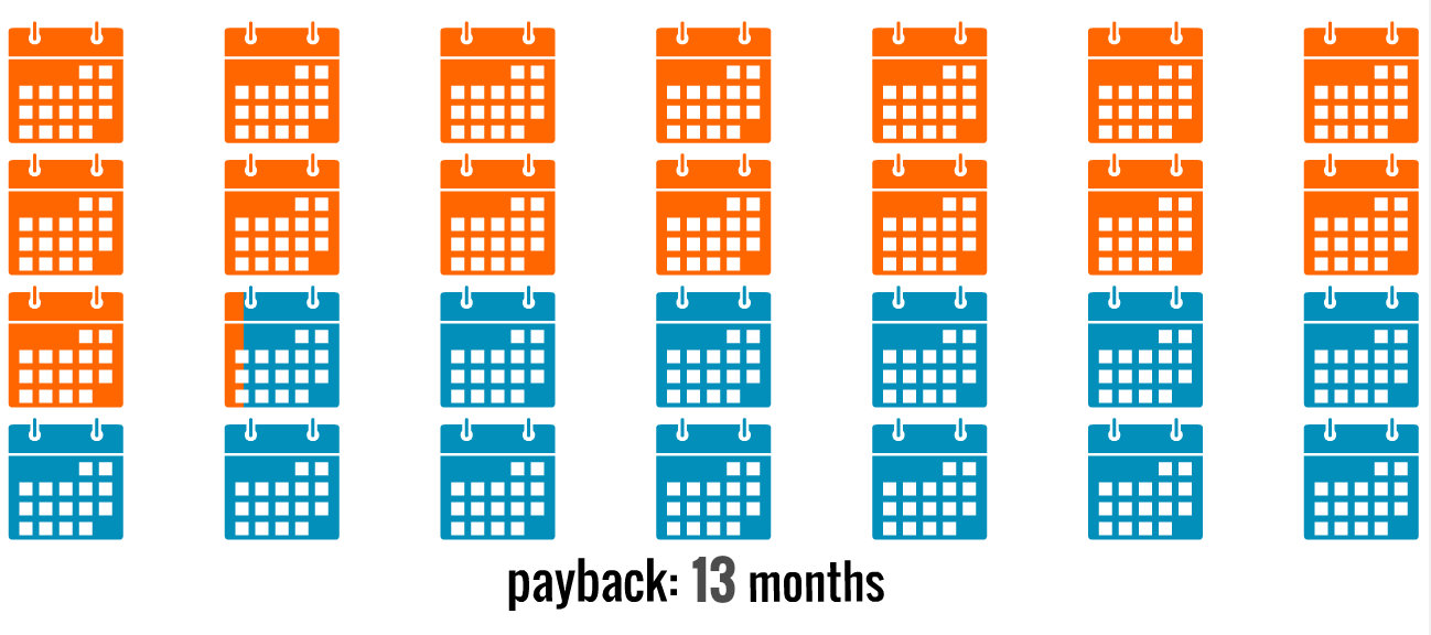 13 Month Payback