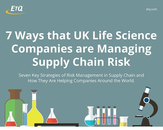 7 Ways That Life Science Companies are Managing Supply Chain Risk