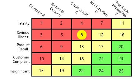 risk matrix examples